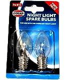 Eveready Paquet de 2 ampoules pour la lampe Eveready Night Light Taille E12 Diamètre du filetage 12 mm 7 W 220-240 V