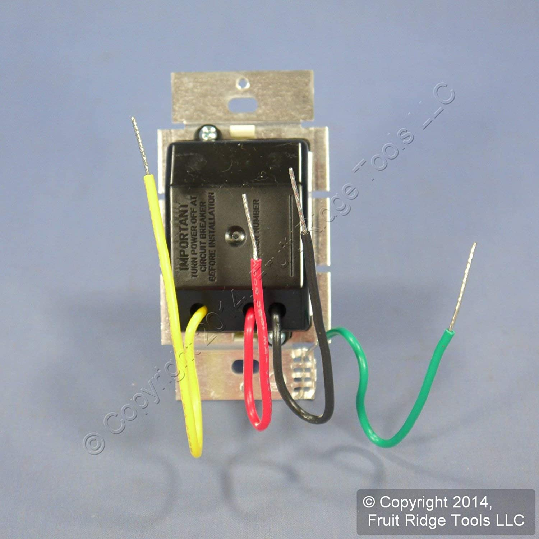 AYFSQ-F-LA Single-Pole Light Almond Lutron Toggler Fan Control