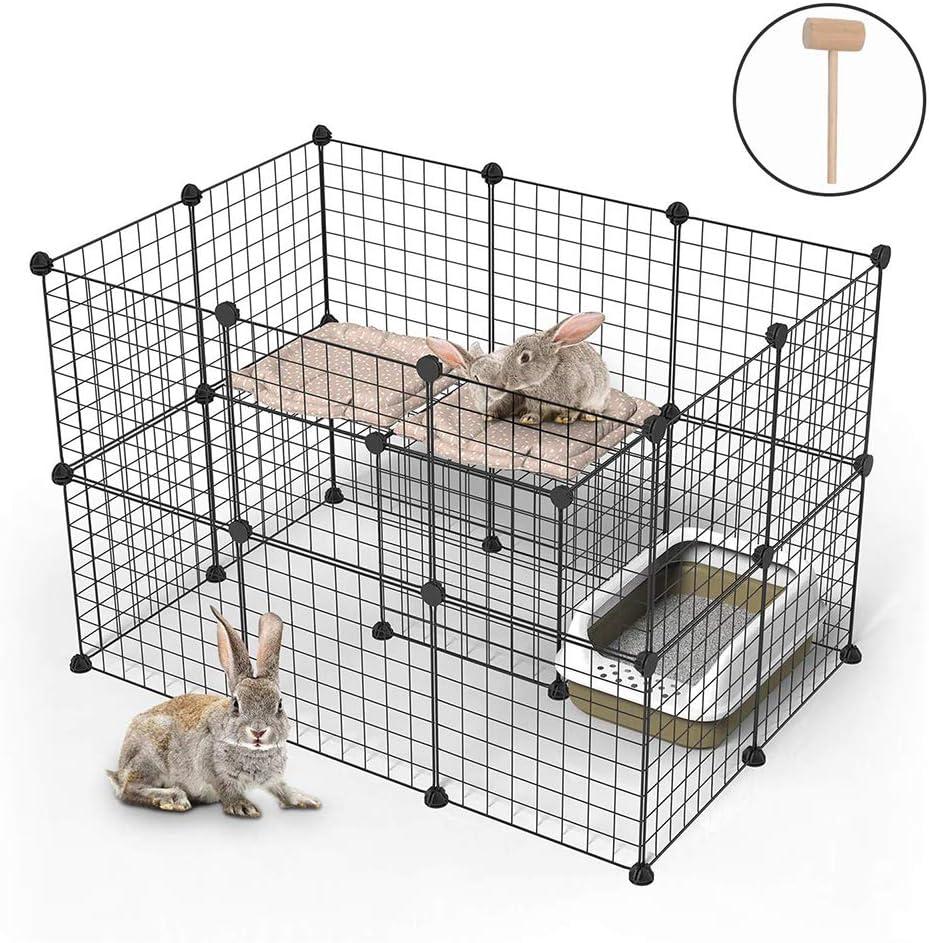 XXL Parque para Perros, Productos para Mascotas Cerca de jardín de Alambre metálico, Negro (24 Paneles): Amazon.es: Deportes y aire libre