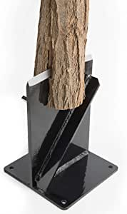 Tooltrex Wood Kindling Splitter - High Strength Structural Steel Firewood Splitter, Wood Splitter Wedge, for Small Wood Stove and Fireplace Manual Log Splitter
