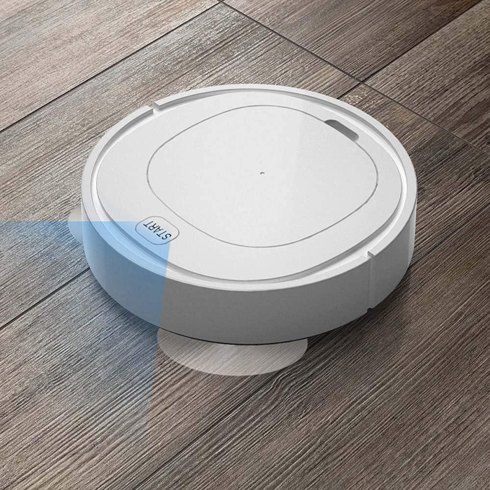 LIUCHANG Robot ménager Balayage Intelligent, Trois-en-Un Machine de Chargement et de Nettoyage, Un aspirateur, Un Don de l\'appareil ménager liuchang20 (Color : White) White