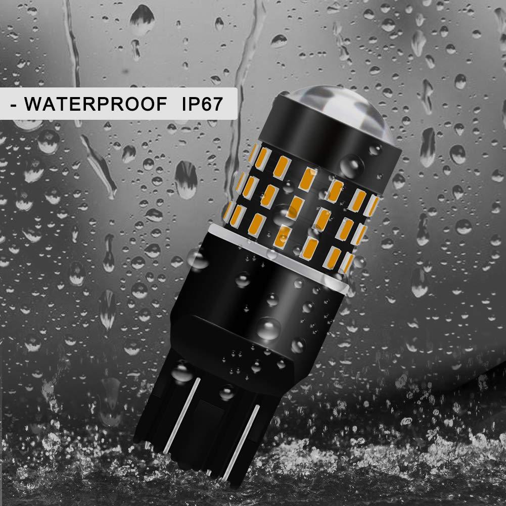 clignotants lat/éraux compatible 1157 BAY15D 1016 1034 1196 arri/ères pour remplacement des feux de recul 12 V-24 V DC//CC 3,1 W tr/ès blanches Lot de 2 ampoules LED Tuincyn de 650 lumens