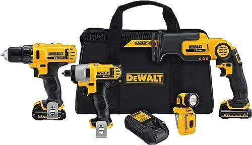 DEWALT DCK413S2 12-Volt MAX 4-Tool Combo Kit – DEWDCK413S2