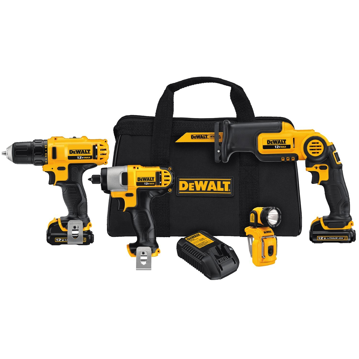 829df8f5bd1 DEWALT DCK413S2 12-Volt MAX 4-Tool Combo Kit - DEWDCK413S2 - Power Tool  Combo Packs - Amazon.com