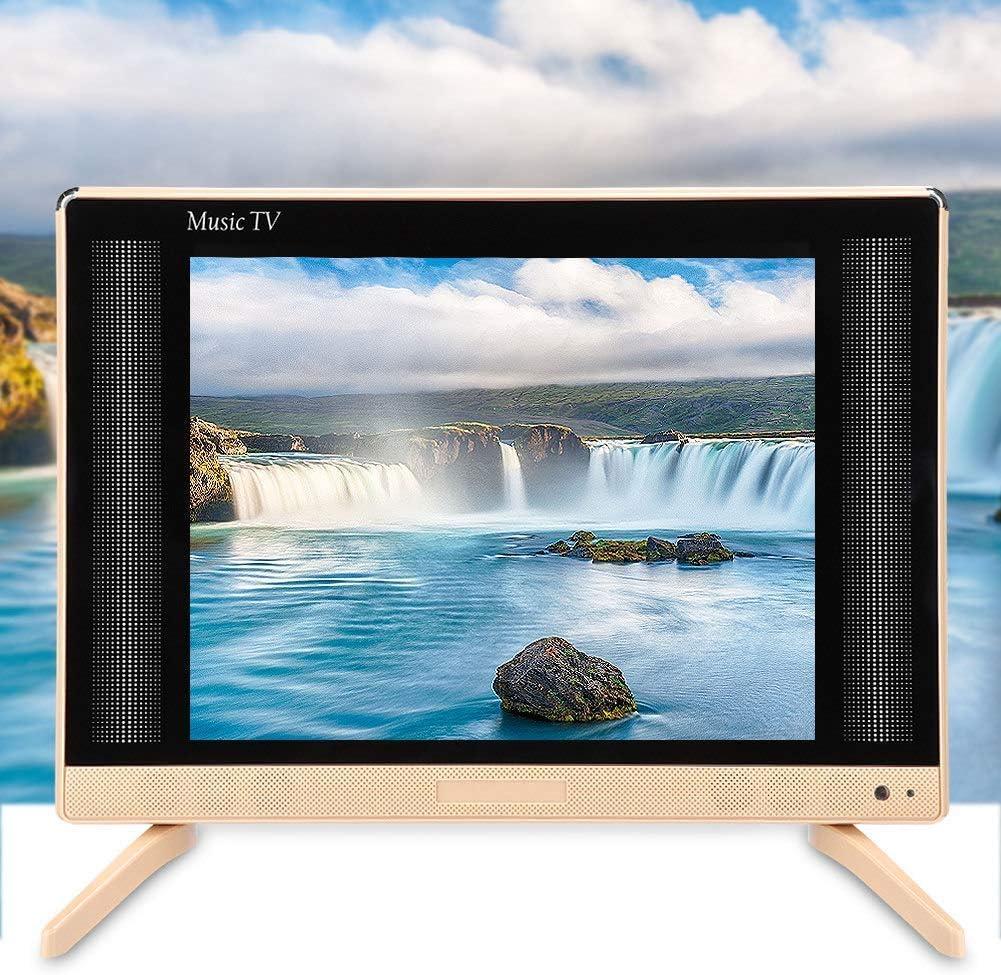 TV 24 pulgadas, Televisor LED 1080p |Monitor de pantalla panorámica de TV Ultra HD |Mini televisión portátil | Calidad de sonido bajo |Altavoces estéreo |Soporte de pared para TV HD (110-240 V)(UE):
