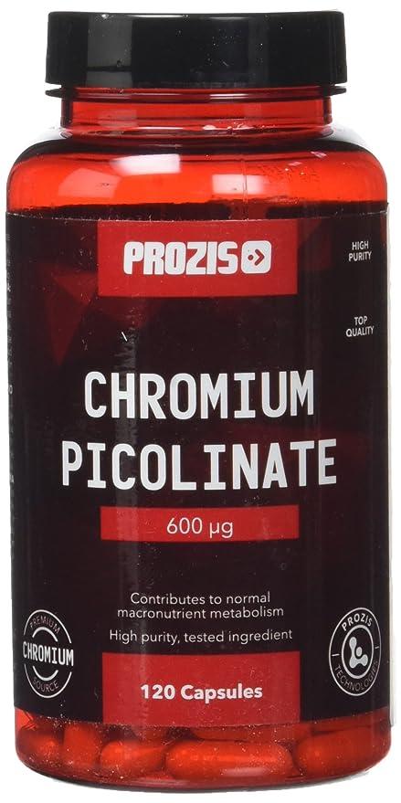 Prozis 100% Picolinato de Cromo 120 Cápsulas 600mcg - Ayuda al colesterol bueno y a los