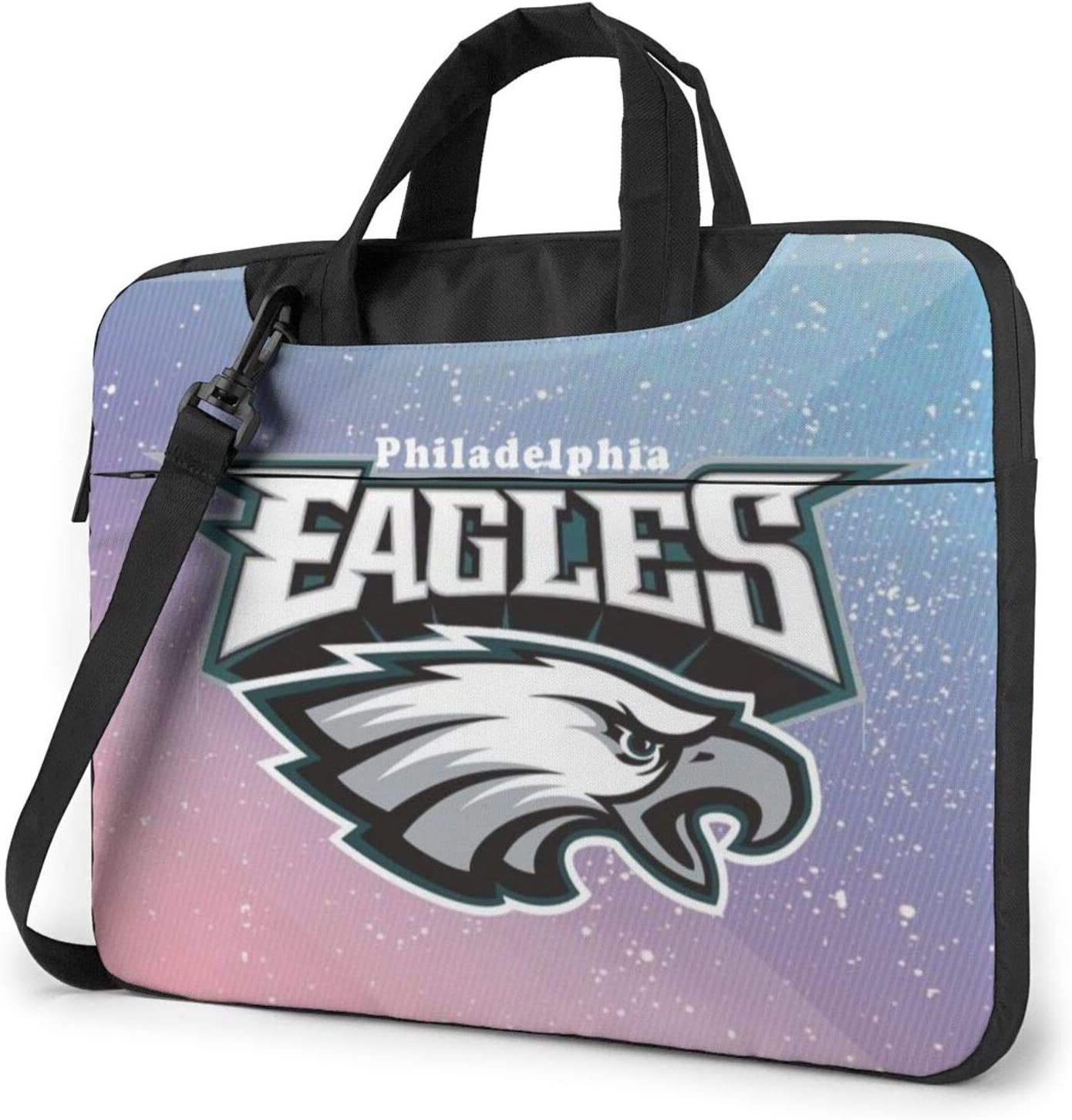 Philadelphia Eagles Laptop Bag,360 Protective Shock-Proof Shoulder Bag Briefcase Handbag for Men Women 15.6 inch