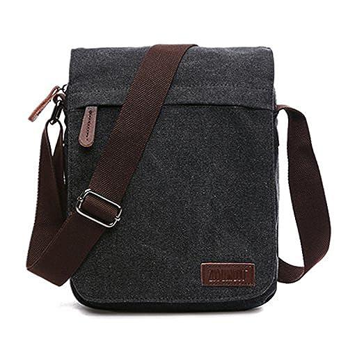 estilo moderno estética de lujo precio bajo Outreo Bolsos Bandolera Vintage Messenger Bag Maletines para Hombre Bolso  Bolsas de Viaje Tela para Laptop Colegio Bolso Mujer Escolares Sport Casual