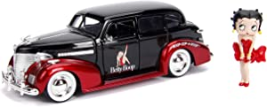 Jada Toys Betty Boop & 1939 Chevy Master Deluxe- 1: 24 Die-Cast Vehicle with2.75 Die-Cast Figure