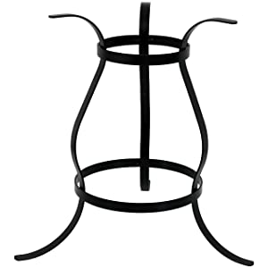 Sunnydaze Curved Garden Gazing Ball Stand for 10-Inch and 12-Inch Outdoor Gazing Globes, Black Steel, 10-Inch Tall