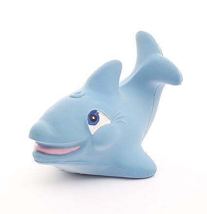 Juguete de dentición de baño de goma natural Flipper el ...