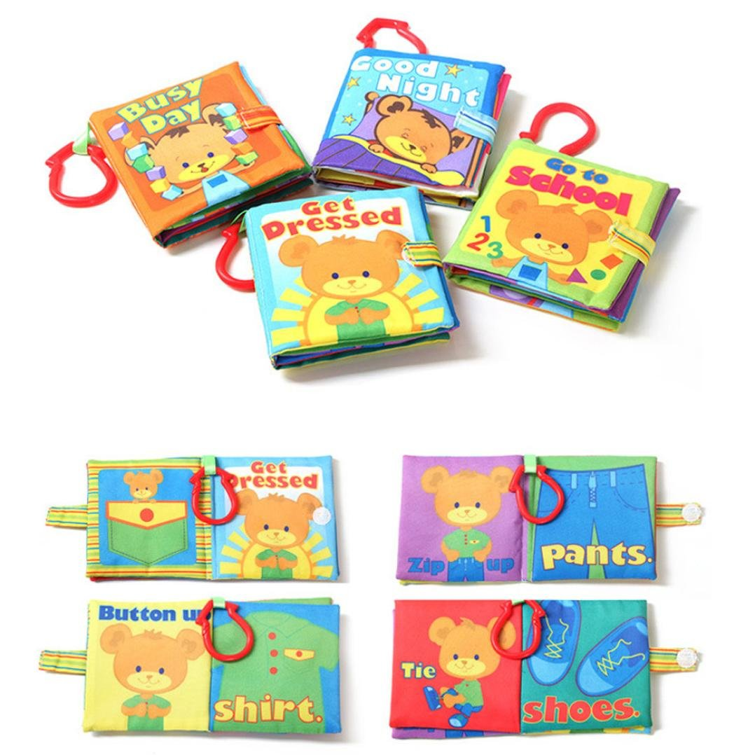 Baby Books,Rucan Baby Boys Girls New Cloth Book Intelligence Development Educational Toys