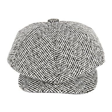 Refaxi Men s Flat Cap Tweed Herringbone Newsboy Baker boy Hat lvy ... 569ed203e3d