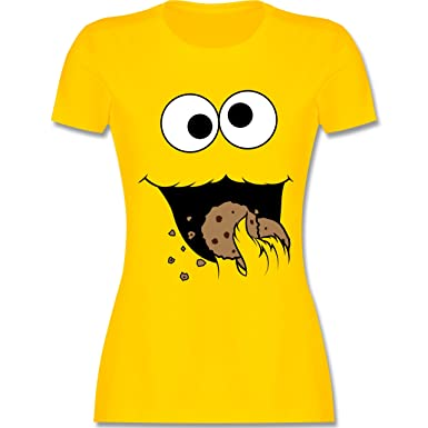 730b89ab23f9 Karneval   Fasching - Keks-Monster - Damen T-Shirt Rundhals ...