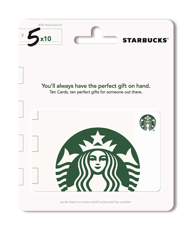 Starbucks Gift Cards, Multipack of 10