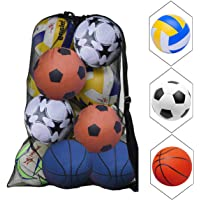 """""""Natuce Ballnet, grote ballentas, baltas, voetbal, meshbag voor 10-15 ballen, multifunctioneel sportnet, met trekkoord…"""