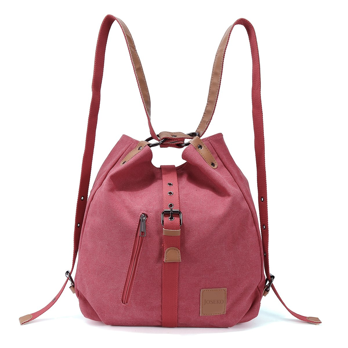 Multifunctional Canvas Bag, JOSEKO Women Convertible Backpack Purse Ladies Shoulder Bag Casual Handbag TEZOOUSRnal155