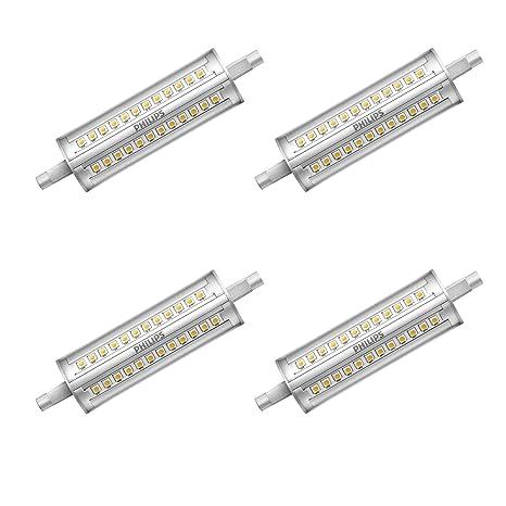 Philips LED 14 W R7S, 118 mm, doble foco reflector de intensidad regulable,
