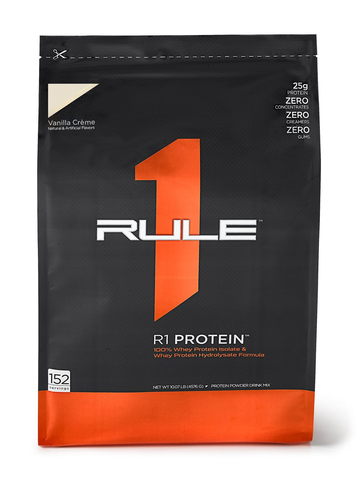 R1 Protein Whey Isolate/Hydrolysate, Rule 1 Proteins (152 Servings, Vanilla Creme)