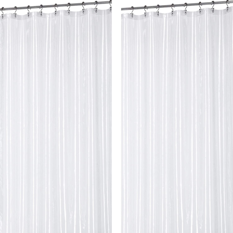 Utopia Home 2 Paquets Douchette de Rideau de Douche Transparente, 183x183 cm Douchette en PVC Transparent pour Usage intensif