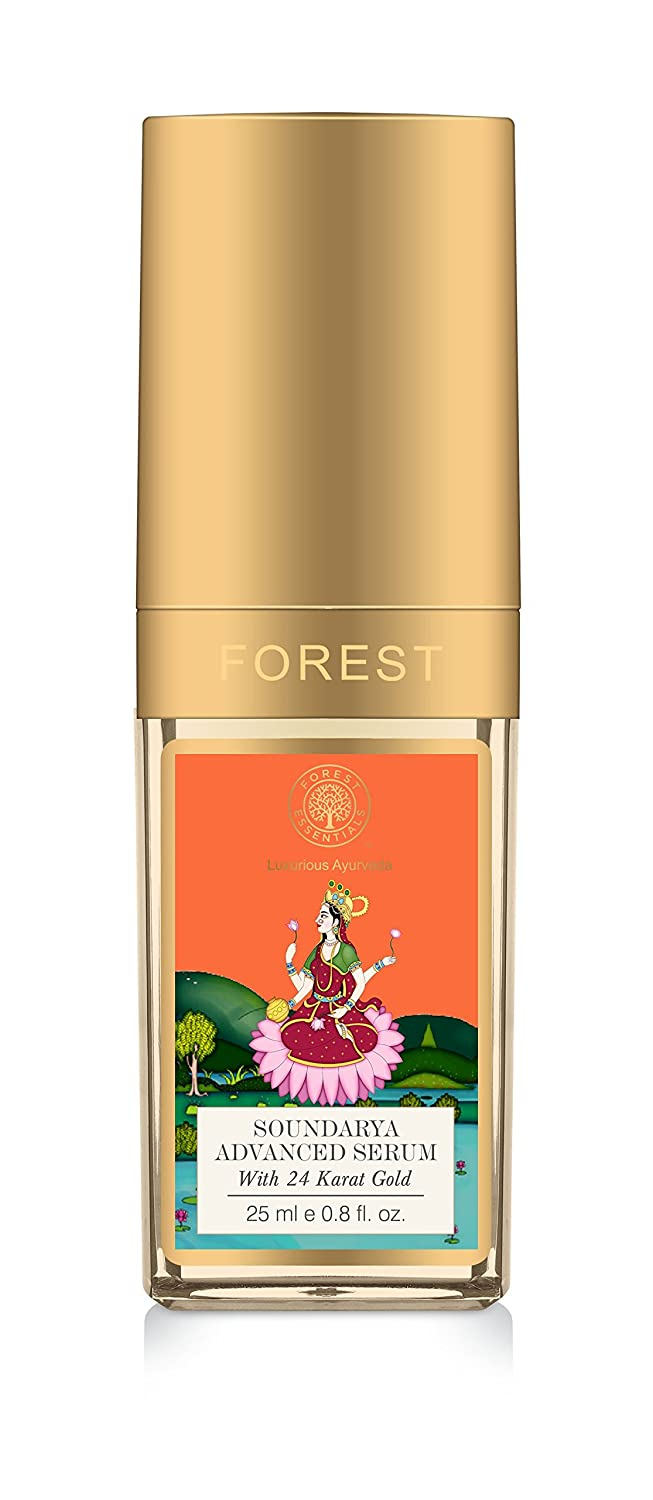 Forest Essentials Soundarya Advanced Serum with 24K Gold Night Serum For use after Cleansing & Toning - 25ml Mountain Valley Springs India Private Limited