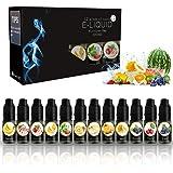 E-liquide pour e-cigarette Cigarette électrique (Sans nicotine) 12 paquets (12 x 10 ml)