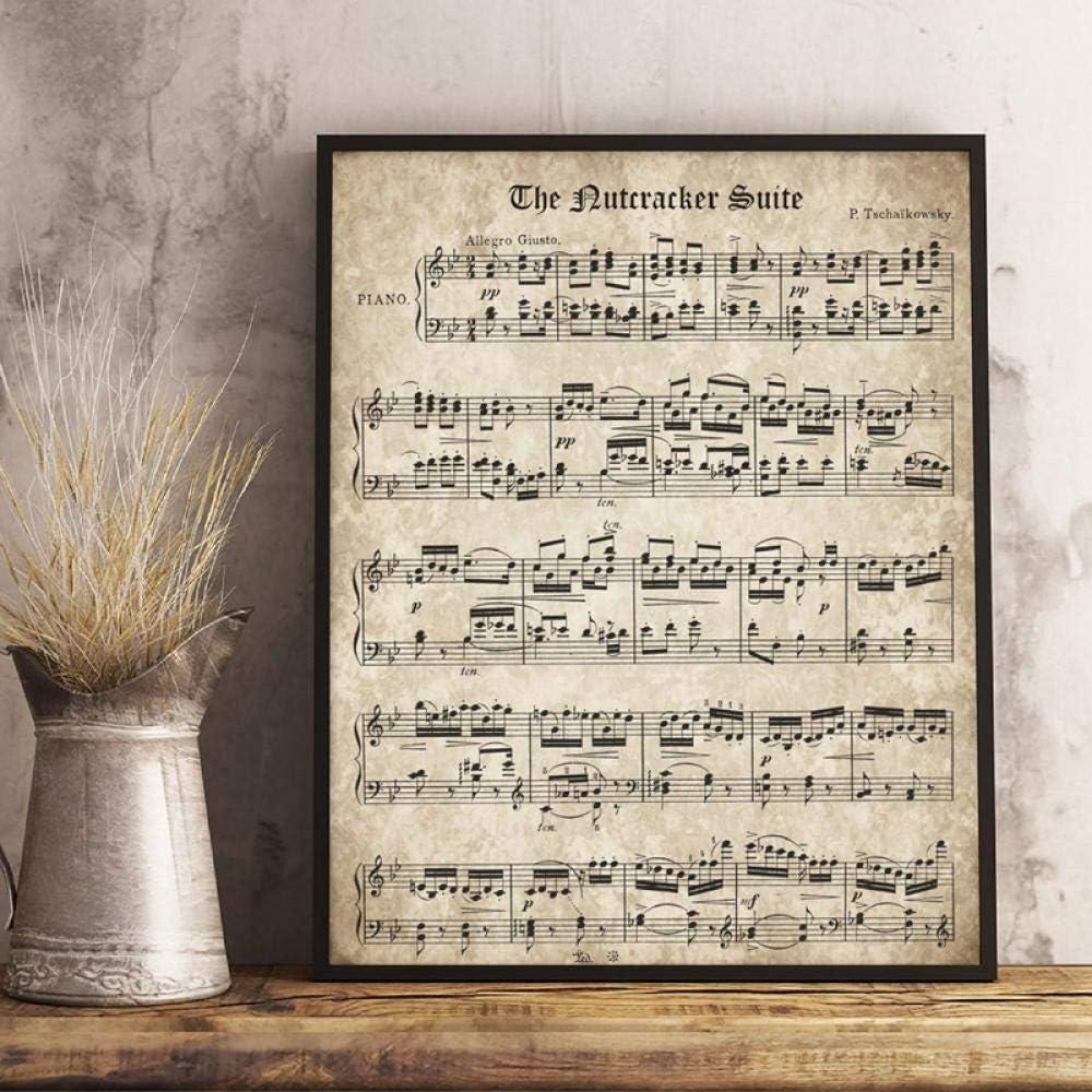 The Nutcracker Vintage Sheet Music Poster Tchaikovsky Classical Piano Prints