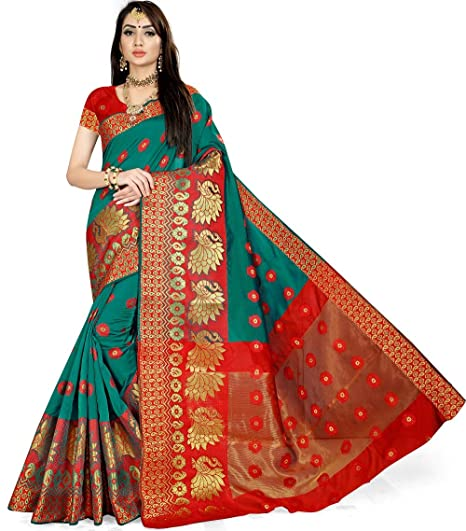 Buy Anghan Brothers Designer New Women Soft Silk Saree Collection Of Green P Saree 2019 Green 1 At Amazon In