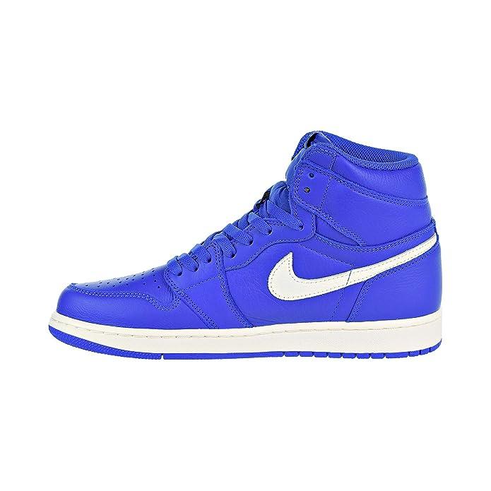 newest collection a497f c6c04 Jordan Nike Men's Air 1 Retro High OG Hyper Royal/Sail 555088-401 (Size: 12)