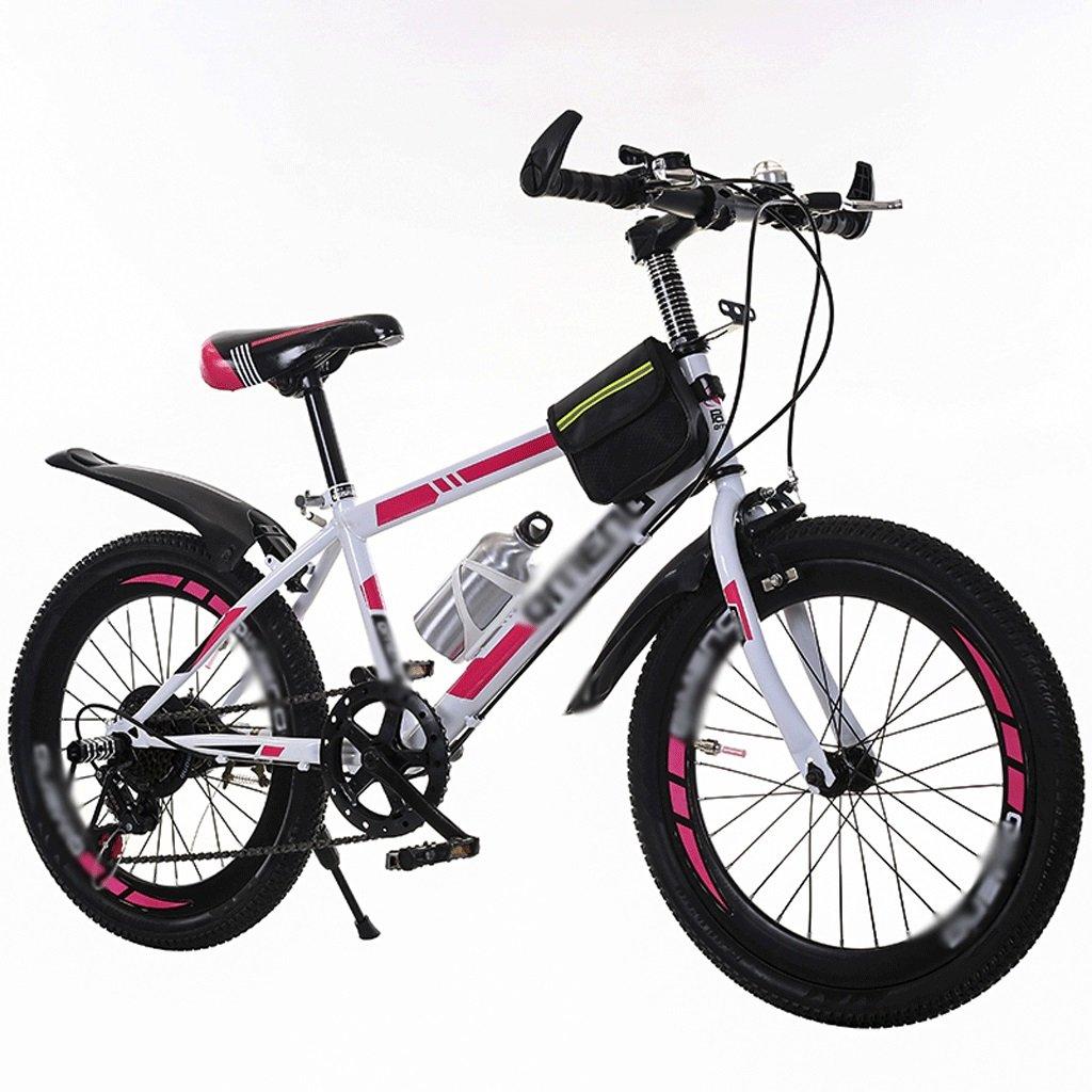 自転車 子供のスピード自転車ガールボーイ18-20インチの小学生マウンテンバイク (色 : ピンク ぴんく) B07DYM3CZKピンク ぴんく