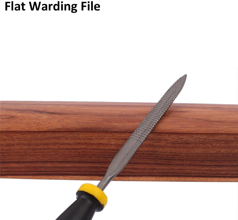 Lot de fichier Bois R/âpe outils avec poign/ée en caoutchouc pour bois verre M/étal Pierre /à d/écouper 6/pi/èces 140/mm 160/mm 180/mm