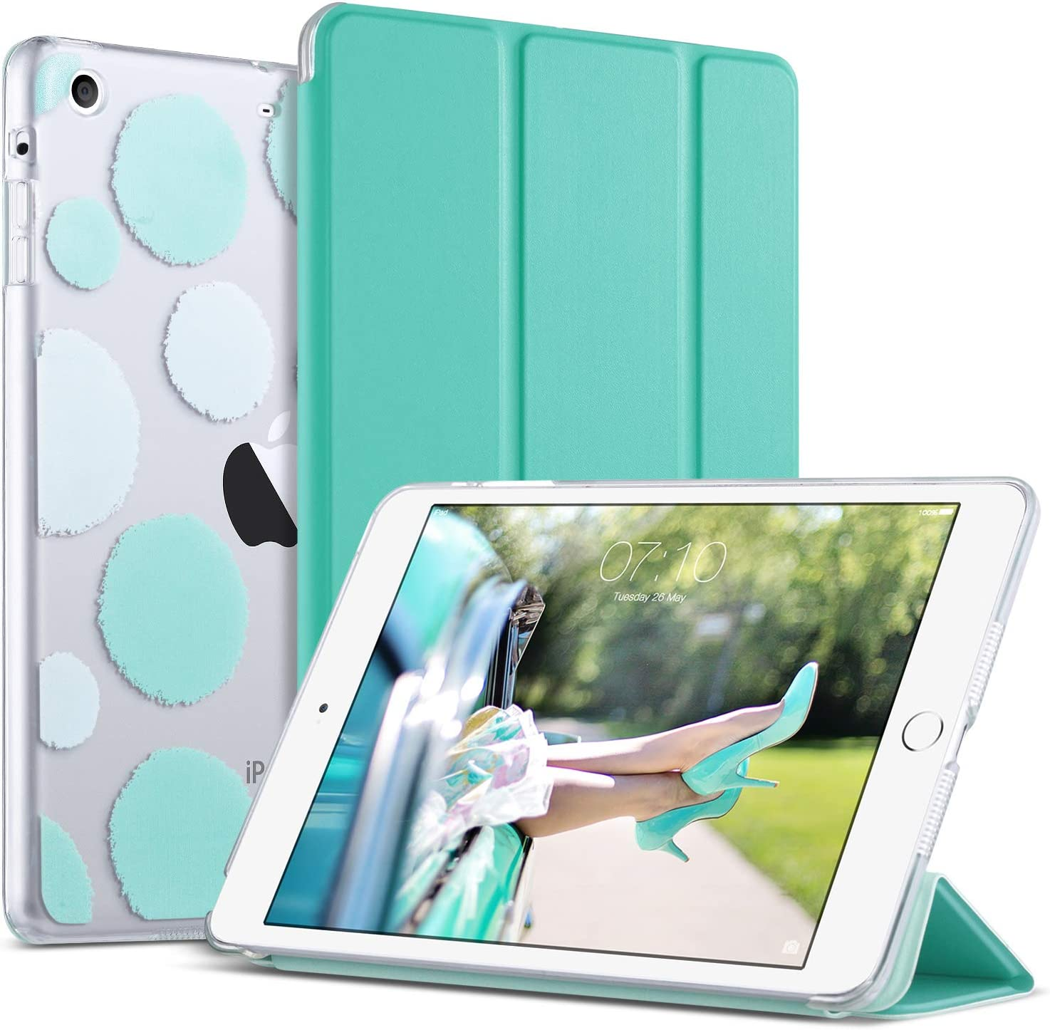 New Tri-Fold Magnetic Leather Smart Cover with Case For Apple iPad Mini 1 2 3