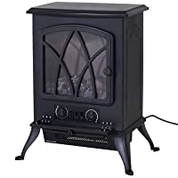 HOMCOM Free Standing Electric Fireplace Stove