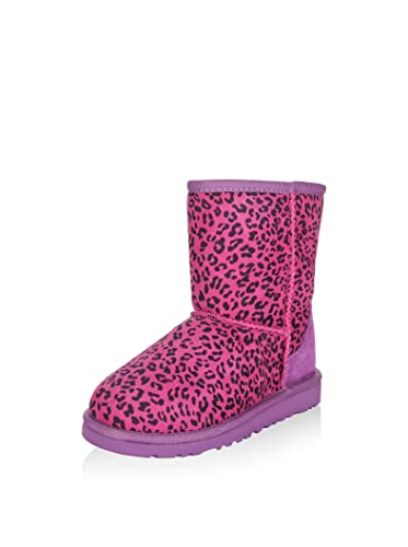 bde81652038d UGG - Boots - Classic Short Leopard -Purple (4.5 UK): Amazon.co.uk ...