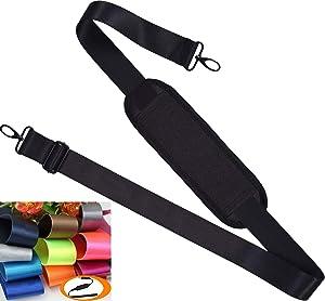 Universal Shoulder Strap Replacement Laptop Shoulder Strap Luggage Duffle Bag Strap Adjustable Belt with Metal Hooks for Duffel Briefcase Computer Bags Laptop Case Messenger Bag/Luggage Bag, Black