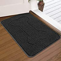 LINLA Indoor Doormat Super Absorbs Mud Mat, Machine Washable Non-Slip Rubber Backing Clean Mat for Front Door Inside…