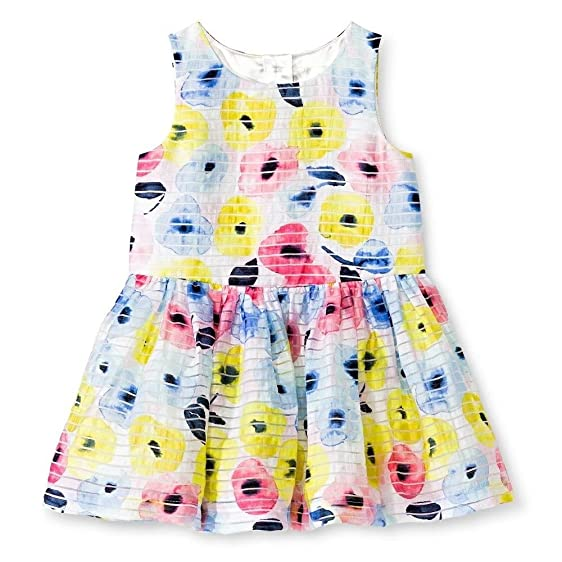 Amazon Com Cherokee Baby Girls Watercolor Shadow Stripe Dress