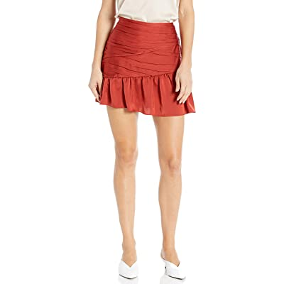 Ramy Brook Women's Mimi Satin Rouched Skirt: Clothing