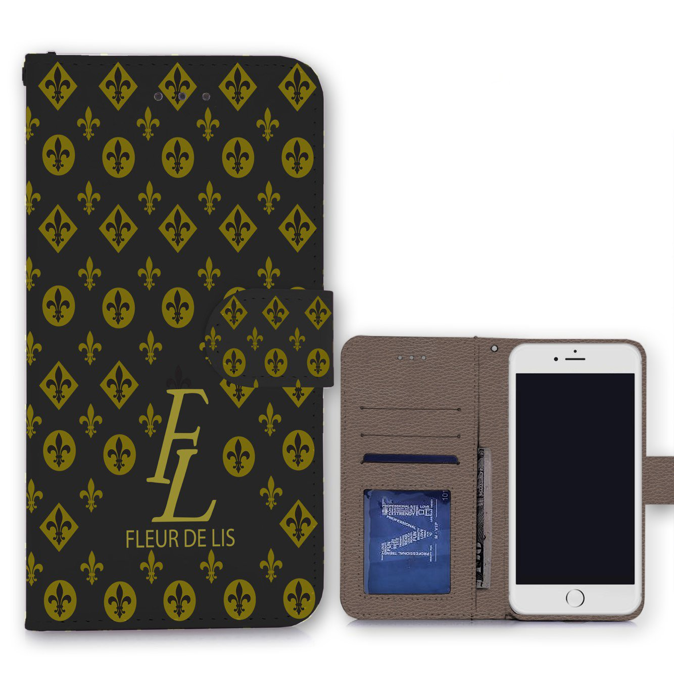 Amazon.com: New Orleans Fleur-de-lis iPhone 8 Plus Wallet Clutch ...