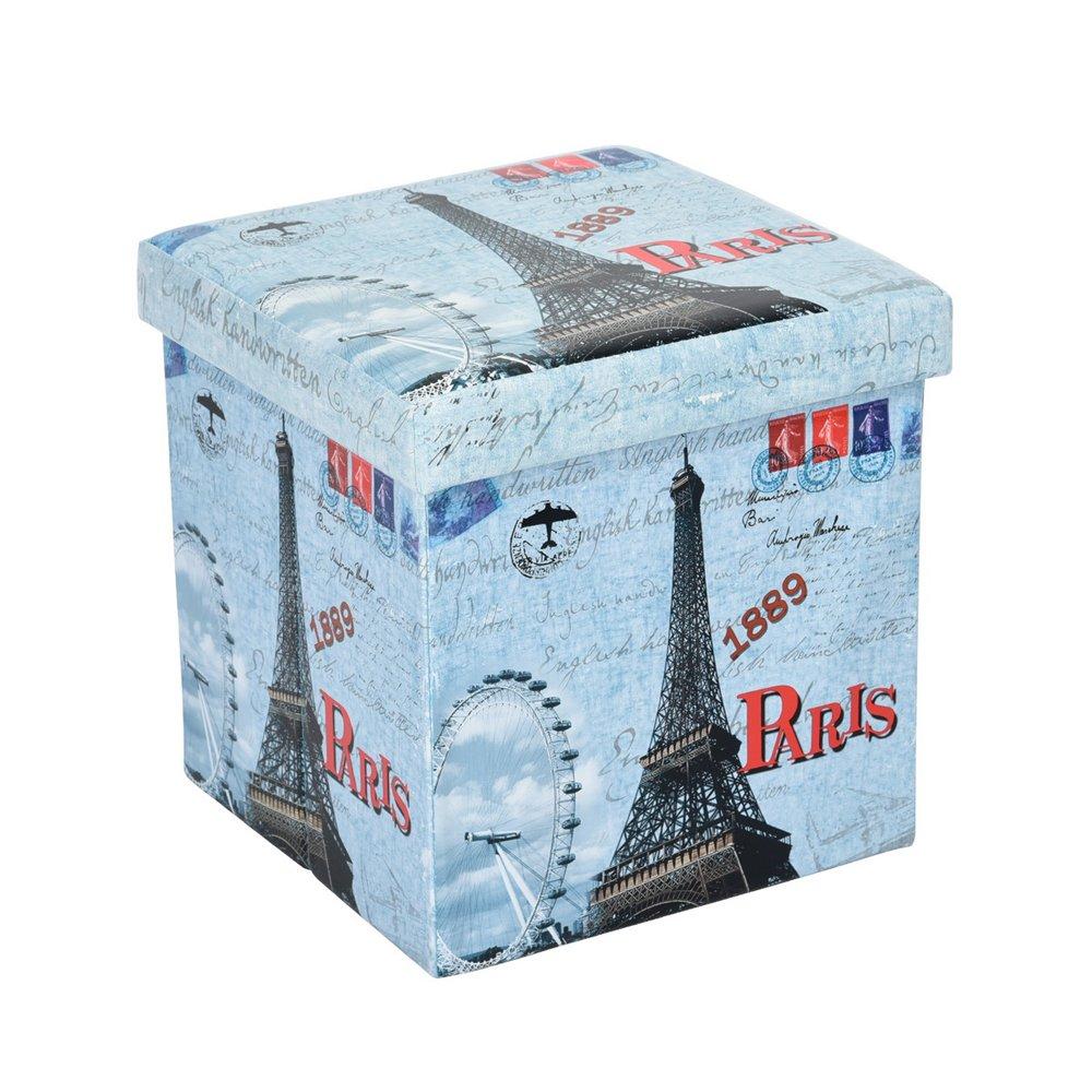 Innovareds funzionale archiviazione pieghevole panca coperchio rimovibile Sgabello poggiapiedi pouf 38x 38x 38cm Paris