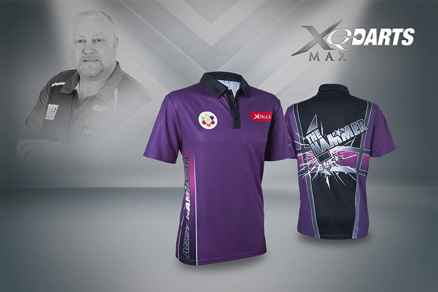 XQmax T-Shirt Andy Hamilton Replica Match Shirt Gr. 2-XL