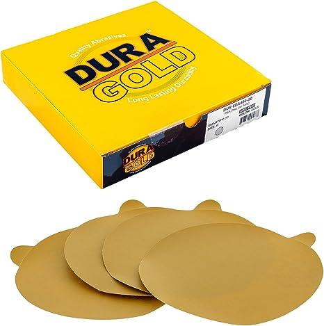 "Box of 40 Sandpaper 400 Grit 3/"" Gold Hook /& Loop Sanding Discs DA Sanders"