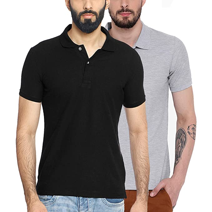 e64538ba4a85d Wild Thunder Polo Collar Half Sleeve Combo Cotton T Shirts - Men s ...