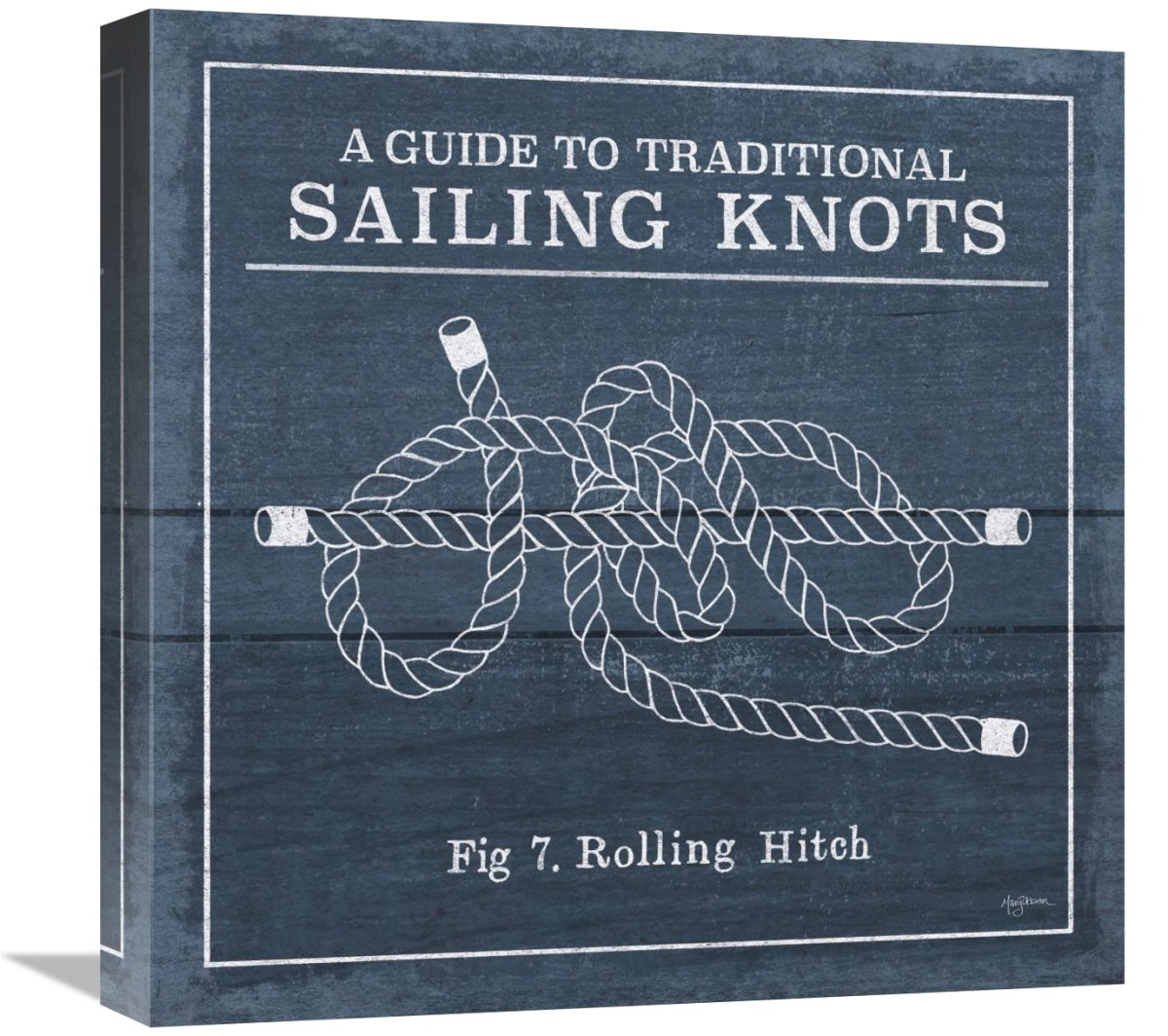 Global Gallery Mary Urban Vintage Sailing Knots VIII Giclee Stretched Canvas Artwork 18 x 18