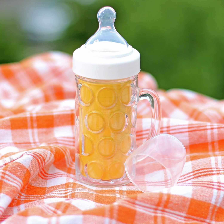 Baby Kleinkind Ozapft is Trinkflasche CEBEGO Babyflasche Masskrug Design Nuckelflasche mit Magnet