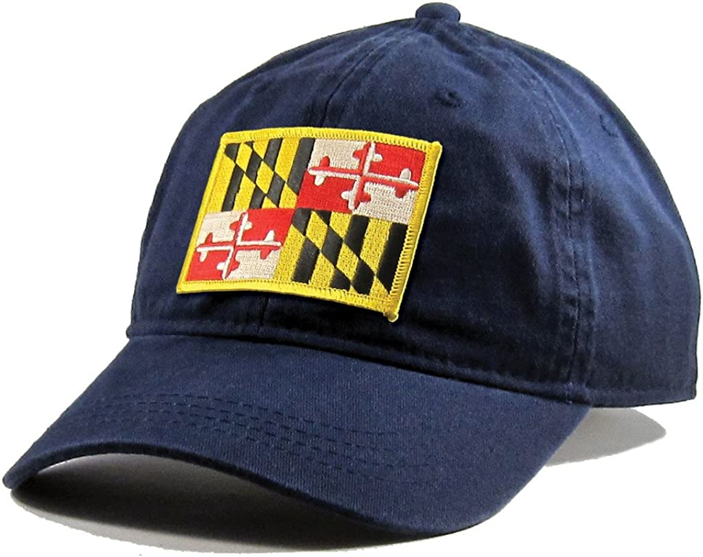 Homeland Tees Mens Maryland Flag Patch Cotton Twill Hat