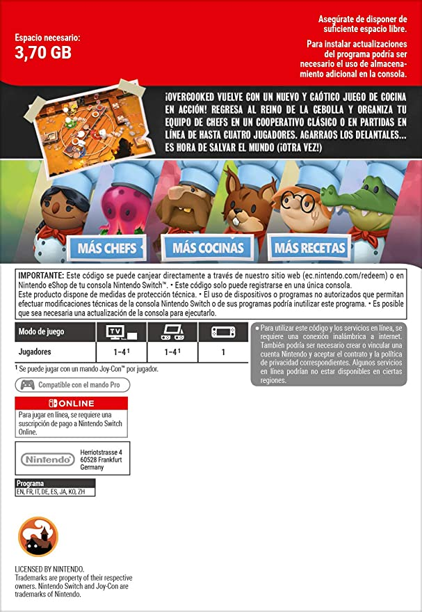 Overcooked! 2 | Switch - Download Code: Amazon.es: Videojuegos