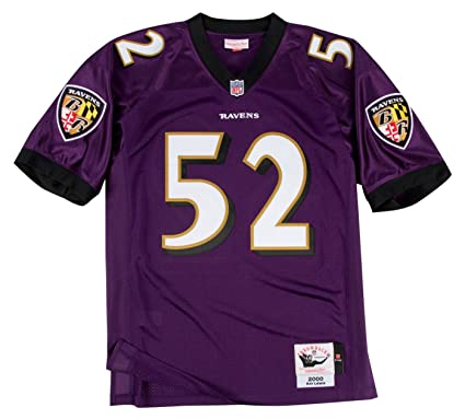 Ray Lewis Baltimore Ravens Mitchell   Ness Authentic 2000 Purple NFL Jersey 4461bfd7d