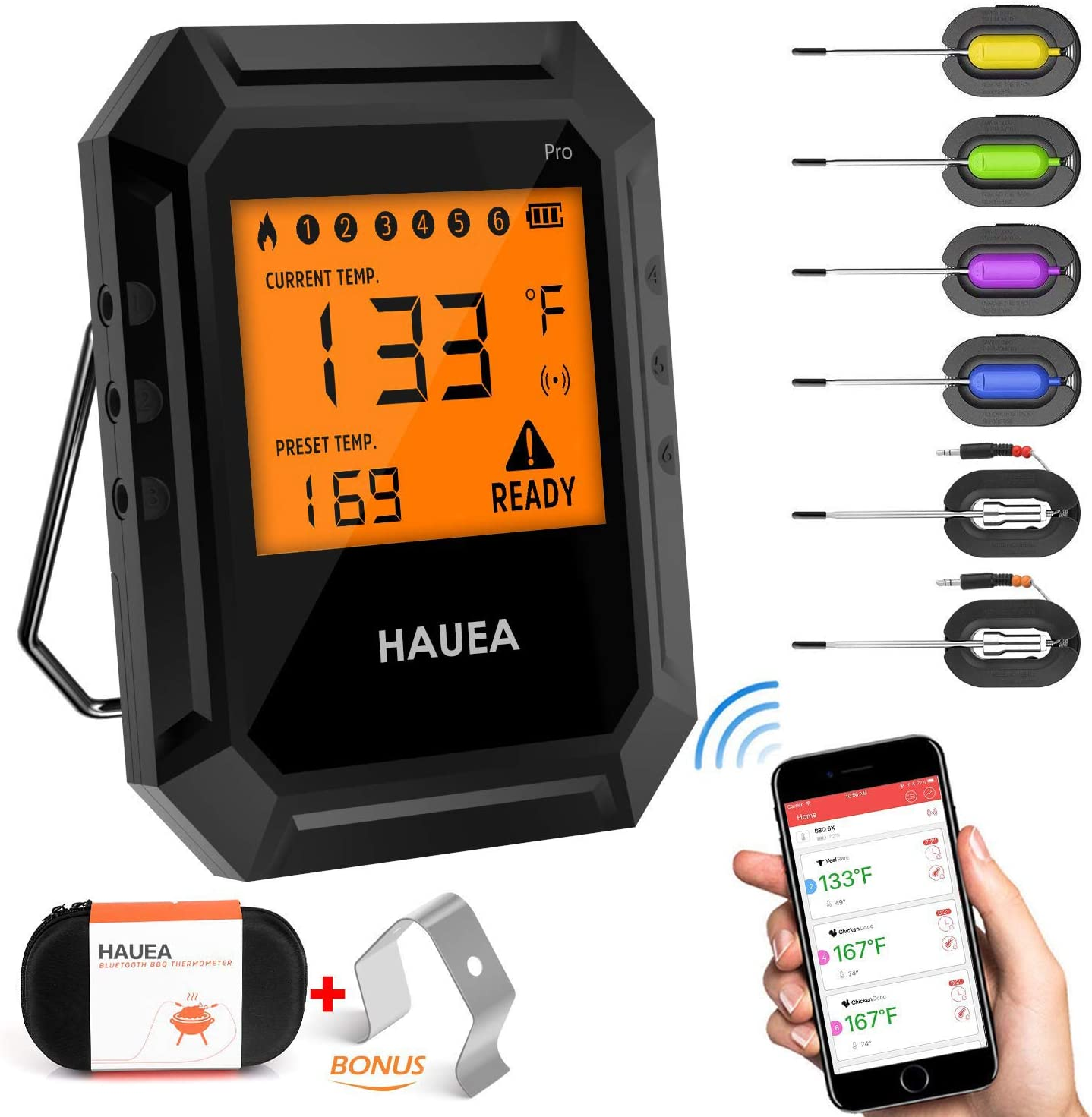 Most efficient smart cooking thermometer: HAUEA Meat Thermometer
