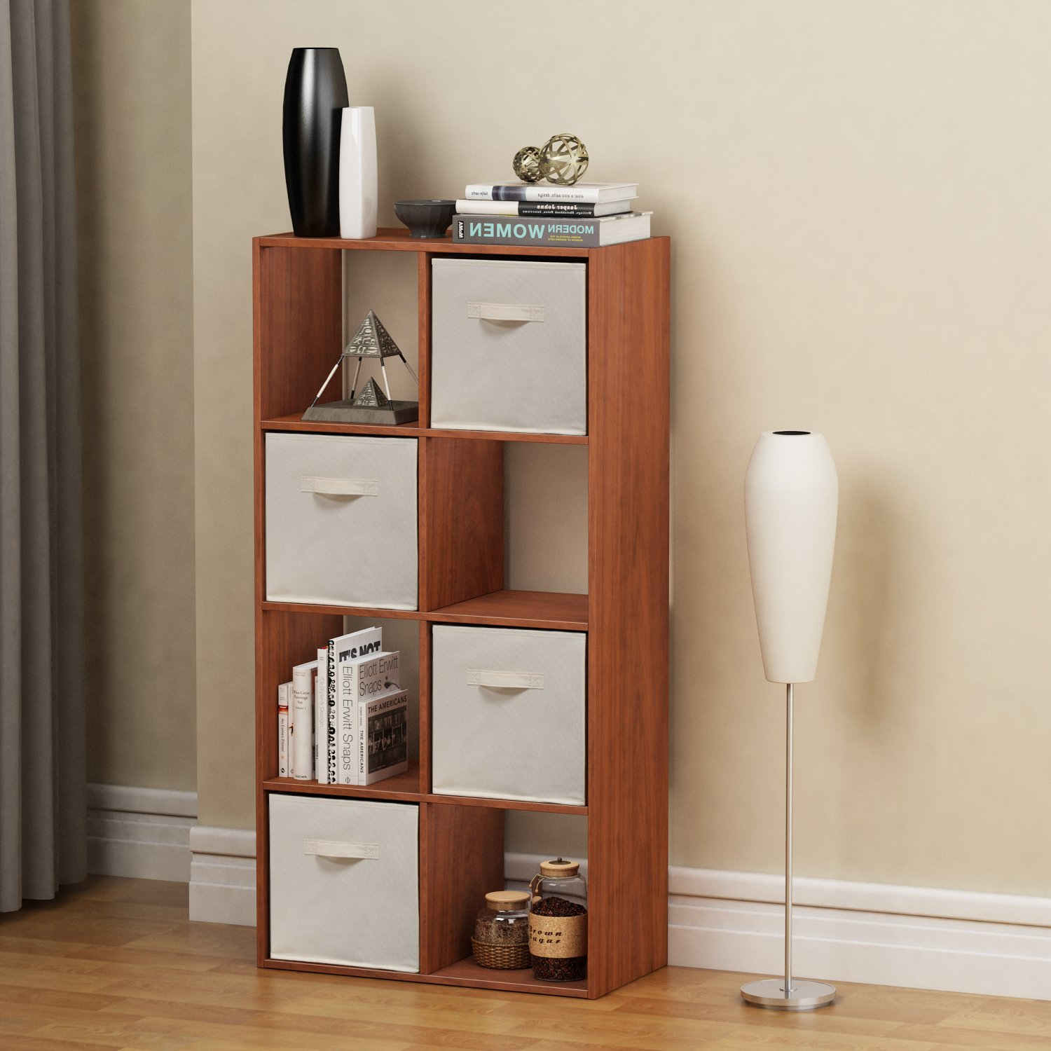 Homestar 8 Cube with Fabric Bins, Cherry Spice